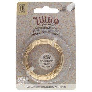 BeadSmith Wire elements -18 gauge 'Gold' semi-flexibel