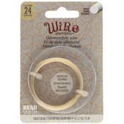 BeadSmith Wire elements -24 gauge 'Gold' semi-flexibel