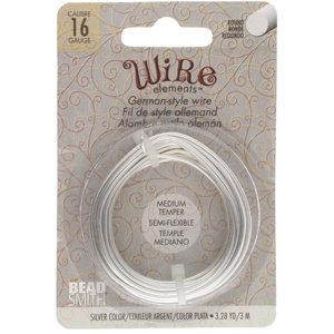 BeadSmith Wire elements -16 gauge 'Silver' semi-flexibel