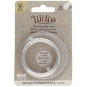 BeadSmith Wire elements - 20 gauge 'Silver' semi-flexibel