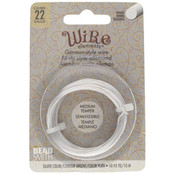 BeadSmith Wire elements -22 gauge 'Silver' semi-flexibel