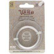 BeadSmith Wire elements -24 gauge 'Silver' semi-flexibel
