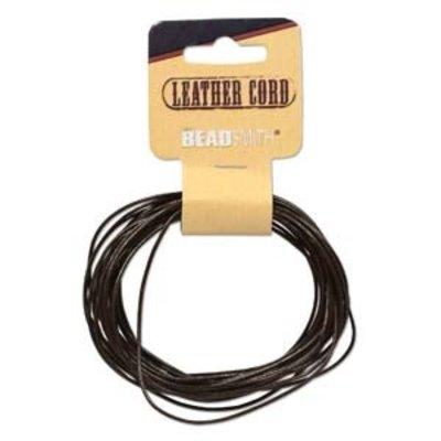 BeadSmith Leer uit India 1 mm bruin (ca. 4,5 meter)