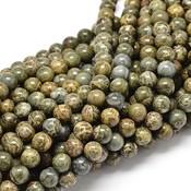 Jaspis - Afrikaans groene jaspis kralen 10 mm rond (streng)