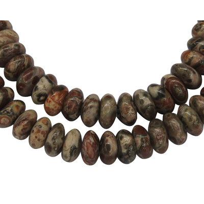 Jaspis - leopard skin jaspis kralen 6x3 mm abacus (streng)