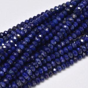 Lapis lazuli facet kralen 3x2 mm (steng)