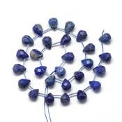 Lapis lazuli kralen druppel (steng)