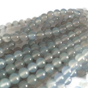 Chalcedoon - blauwe chalcedoon kralen 6 mm rond (streng)