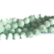 Angeliet - groene angeliet kralen 8 mm rond (streng)