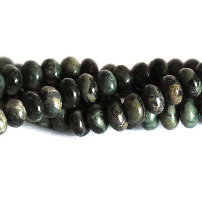 Jaspis -  kambaba jaspis kralen 4x6 abacus (streng)