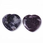 Duimsteen hart lepidoliet (paars)