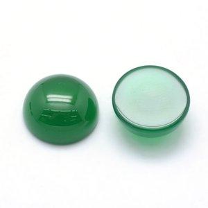 Onyx - groene onyx cabochon 12 mm