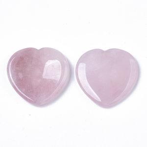 Duimsteen hart rozenkwarts