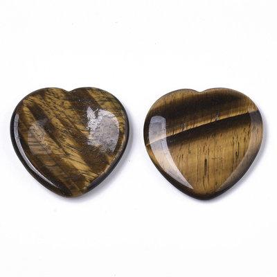 Duimsteen hart tijgeroog