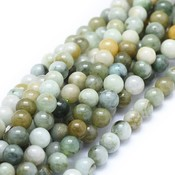 Jade (jadeiet) kralen 6 mm rond (streng)