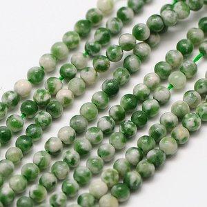 Jade - Qinghai jade kralen 2 mm rond (streng)