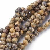 Jaspis - Leopard skin jaspis kralen 2 mm rond (streng)