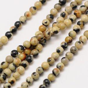Jaspis - dalmatier jaspis kralen 2 mm rond (streng)