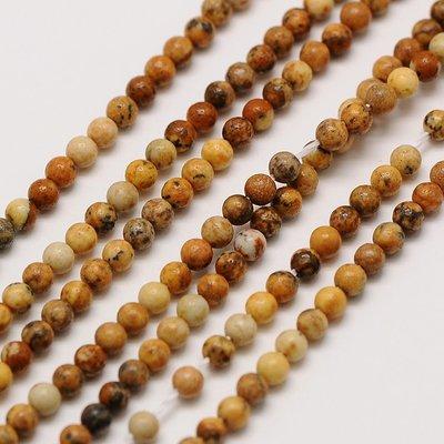 Jaspis - Picture jaspis kralen 2 mm rond (streng)