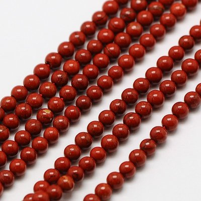 Jaspis - Rode jaspis kralen 2 mm rond (streng)