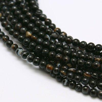 Agaat kralen 2 mm rond (streng)
