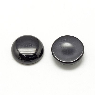 Black stone cabochon 20 mm
