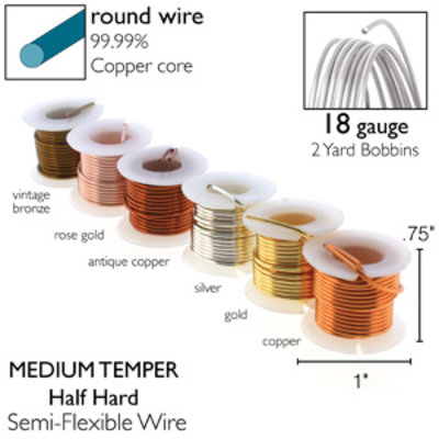 BeadSmith Wire elements - 18 gauge assortiments verpakking