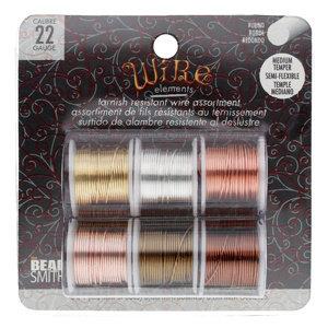 BeadSmith Wire elements - 22 gauge assortiments verpakking