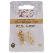 Basic elements - knijpkralen + verbergers 'goudkleurig'