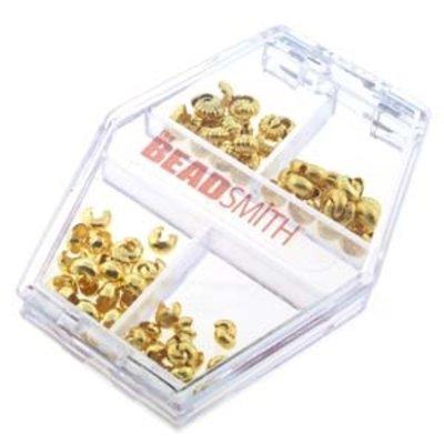 Basic elements - assortiment knijpkraal verbergers 'goudkleurig'