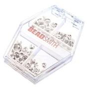 Basic elements - assortiment knijpkraal verbergers 'zilverkleurig'