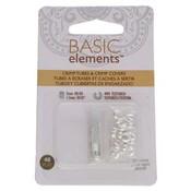 Basic elements - knijpkralen + verbergers stardust 'zilverkleurig'