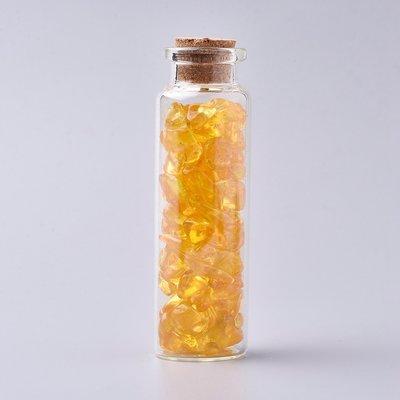 Edelsteen potje met trommelstenen citrien
