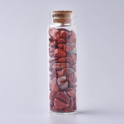 Edelsteen potje met trommelstenen rode jasper