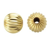 Goldfilled 14kt kralen - rond 3 mm 'geribbeld' (p/st)