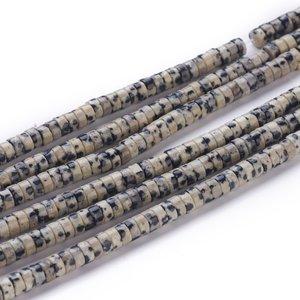Jaspis - Dalmatier Jaspis kralen 'heishi' (streng)