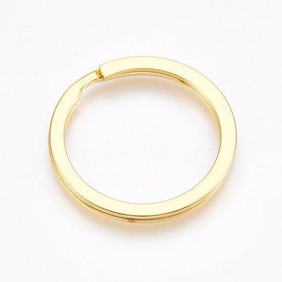 Sleutelhanger splitring goudkleurig (p/st)