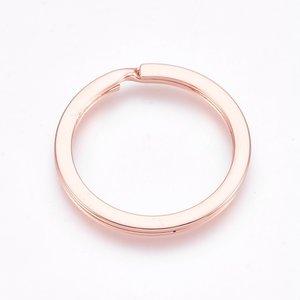 Sleutelhanger splitring rosé goudkleurig (p/st)