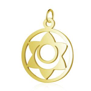 Chakra bedel 'Svadhishthana' RVS goudkleur (p/st)
