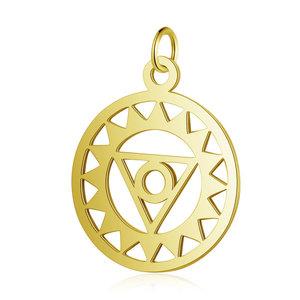 Chakra bedel 'Visudddha' RVS goudkleur goudkleur (p/st)