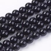 Toermalijn (zwart) kralen 10 mm rond (streng)