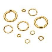 Goldfilled 14kt Montagering  ca. 6 mm 20 gauge  - 10 stuks