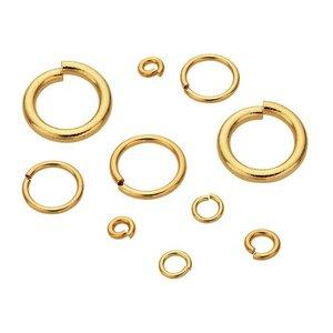 Goldfilled 14kt Montagering  ca. 6 mm 22 gauge  - 10 stuks