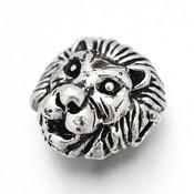 Metalen kralen leeuwenhoofd (5st)