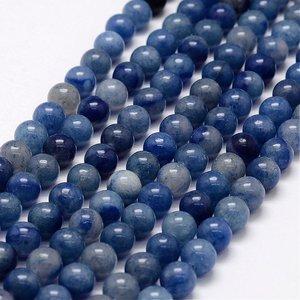 Aventurijn - blauwe aventurijn kralen 10 mm rond (streng)