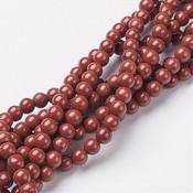 Jaspis - rode jaspis kralen 6 mm rond (streng)