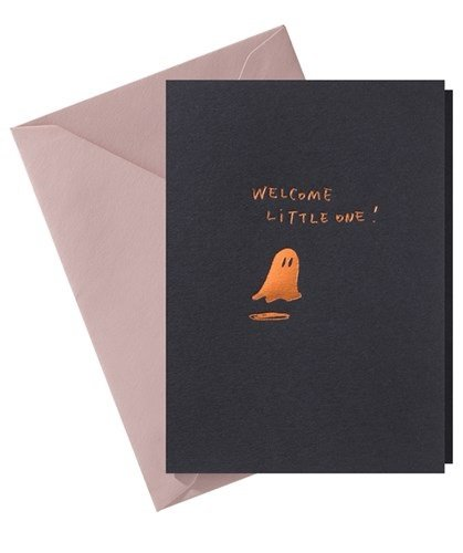 Papette Papette Hot Copper greeting card blue 'welcome little one'