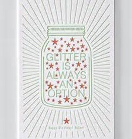Papette Papette Enna greeting card with enveloppe glitter is always an option