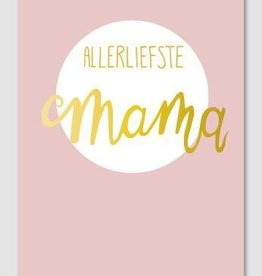 Papette Papette Gold greeting card with enveloppe allerliefste mama