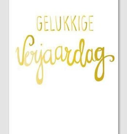 Papette Papette Gold greeting card with enveloppe gelukkige verjaardag